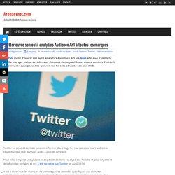 Twitter ouvre son outil analytics Audience API à toutes les marques