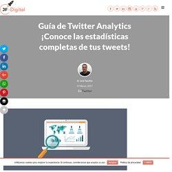 Twitter Analytics ¡Analiza las estadísticas de tus Tweets!