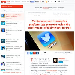 Twitter Opens Up Its Analytics Platform To The Public