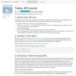 Twitter API Tutorial