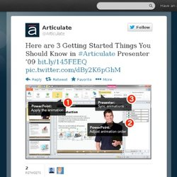 Articulate : Here are 3 Getting Started