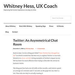 Twitter: An Asymmetrical Chat Room