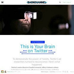 This is Your Brain on Twitter — Backchannel