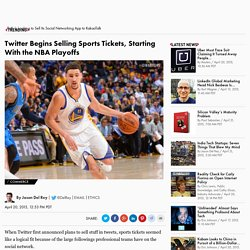 Twitter Sells Sports Tickets in Tweets, Beginning With NBA Playoffs