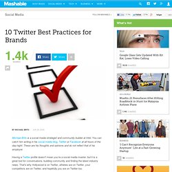 10 Twitter Best Practices for Brands