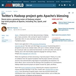 Twitter's Hadoop project gets Apache's blessing