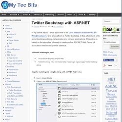 Twitter Bootstrap with ASP.NET