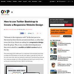 How to use Twitter Bootstrap to Create a Responsive Website Design