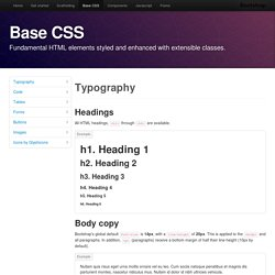 Base · Twitter Bootstrap for Symfony2