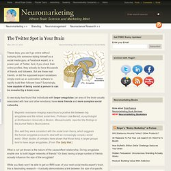 The Twitter Spot in Your Brain