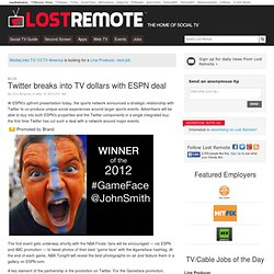 Twitter breaks into TV dollars with ESPN deal