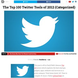 The Top 100 Twitter Tools of 2012 (Categorized)