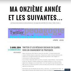 Twitter et les réseaux sociaux en classe: vers un changement de pratiques
