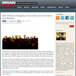 How Twitter is Changing: A new study reveals Twitter's new direction