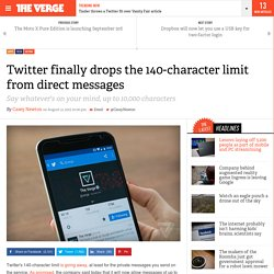 Twitter finally drops the 140-character limit from direct messages