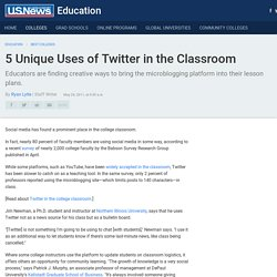 #2 of 5 Unique Uses of Twitter in the Classroom
