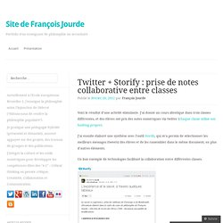 Twitter + Storify : prise de notes collaborative entre classes
