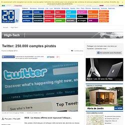 Twitter: 250.000 comptes piratés