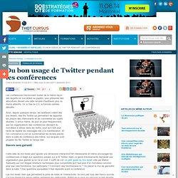 Du bon usage de Twitter pendant les conférences