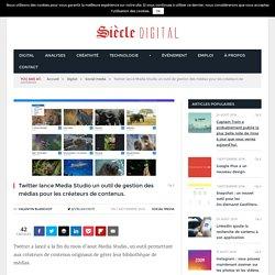 Twitter lance Media Studio un outil de gestion des médias pour les créateurs de contenus.