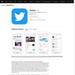 Twitter dans l'App Store