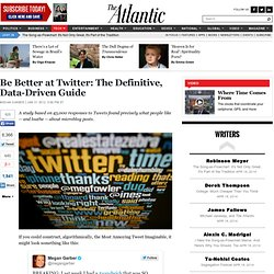 Be Better at Twitter: The Definitive, Data-Driven Guide - Megan Garber - Technology