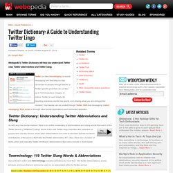 Twitter Dictionary: A Guide to Understanding Twitter Lingo