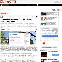 Le compte Twitter de la Diplomatie Française piraté