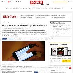 Twitter recrute son directeur général en France