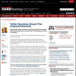 Twitter Downplays Breach That Exposed Passwords - Security - Attacks/breaches