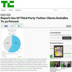Report: Use Of Third-Party Twitter Clients Dwindles To 42 Percent