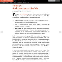 Twitter : écriture sous stéroïde