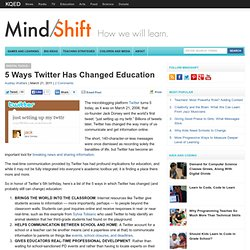 5 Ways Twitter Has Changed Education