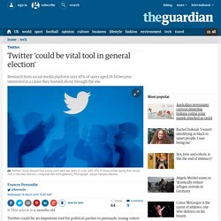 Twitter 'could be vital tool in general election'