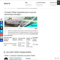 18 outils Twitter essentiels au community manager
