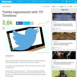 Twitter experiments with 'TV Timelines'