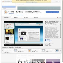 Yoono - Twitter, Facebook, LinkedIn, YouTube™