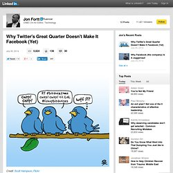 Why Twitter's Great Quarter Doesn't Make It Facebook (Yet)