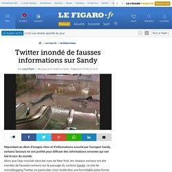 Twitter inondé de fausses informations sur Sandy