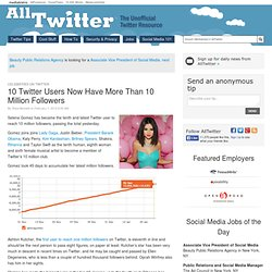 10 Twitter Users Now Have More Than 10 Million Followers