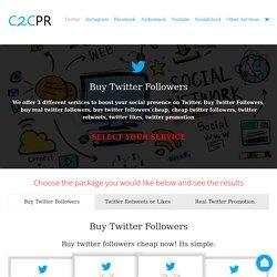 Cheap Twitter Followers - City2City PR