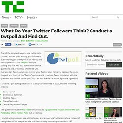 What Do Your Twitter Followers Think? Conduct a twtpoll And Find Out.