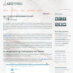 R, twitter, la géolocalisation et la carte