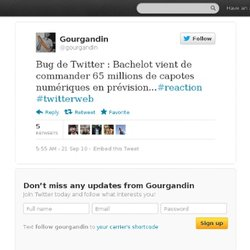 William Marcy: Bug de Twitter : Bachelot