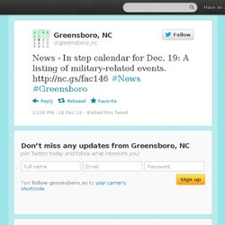 Greensboro: News - In step calendar fo