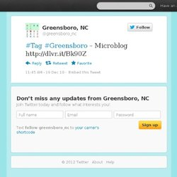 Greensboro: #Tag #Greensboro – Microbl