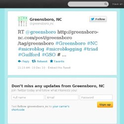 Greensboro: RT @greensboro http://gree