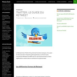 Twitter : le guide du Retweet