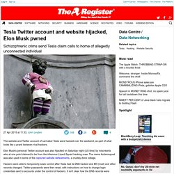 Tesla Twitter account and website hijacked, Elon Musk pwned