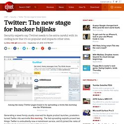 Twitter: The new stage for hacker hijinks | InSecurity Complex